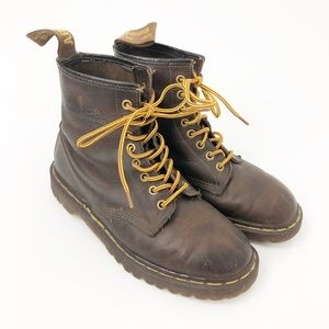 VTG Dr Martens Brown Combat Boots Made in England